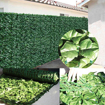 Black Friday !1mx 3m Artificial Ivy Leaf Hedge Panels Roll Privacy Garden Fence