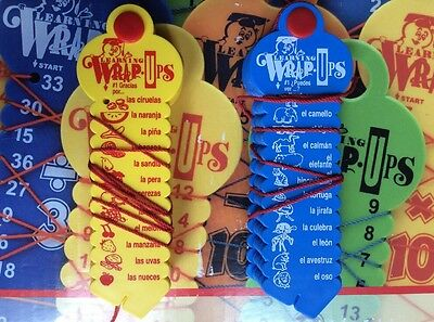 Set of 2 Learning Wrap-Ups Learning Spanish Vocabulary ELL or Spanish Learners