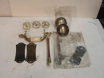 Vintage Lot Of 10 Various Drawer And Cabinet Pulls