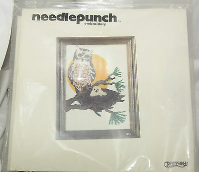 Owl Baby Needle Punch Embroidery Kit No. 1821 Craftways 1980 New Unopened 5x7