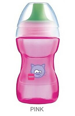Steady Munchkin Click Lock Chew Proof Sippy Cup 284ml Pink Bottle Feeding Baby