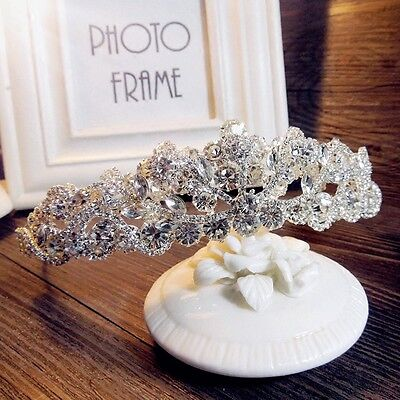 Wedding Bridal pageant Crystal Crown Tiara Headband Hair Accessories Jewelry Hot