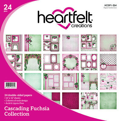 Heartfelt Creations Double-Sided Paper Collection - Cascading Fuchsia HCDP1-254