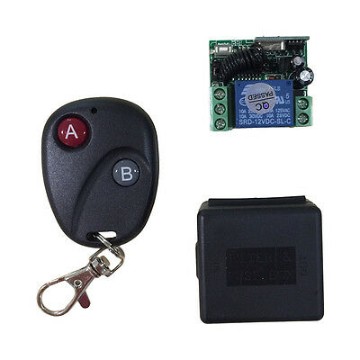 Relay DC12V 7A 1CH Wireless Remote Control Switch Transmitter Receiver System Y#