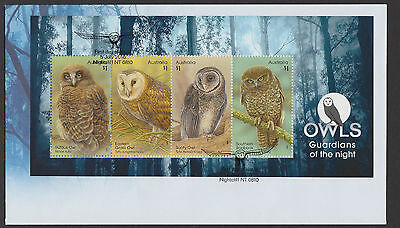 Australia 2016 : Olws Guardians of the Night, First Day Cover with Minisheet