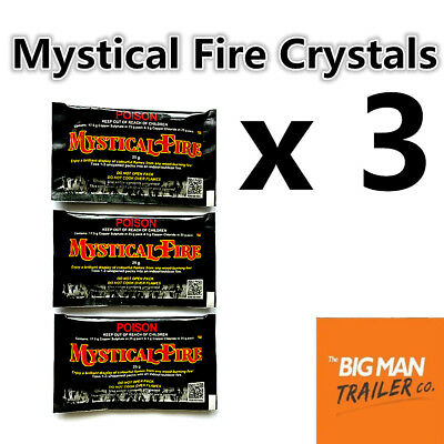 3 x Mystical Fire Crystals Outdoor Camping Motorhome Colorful Caravan OSAMYST