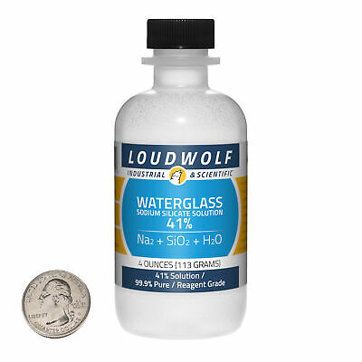 Sodium Silicate / 41% Solution / 4 Ounces / Reagent Grade / SHIPS FAST FROM USA