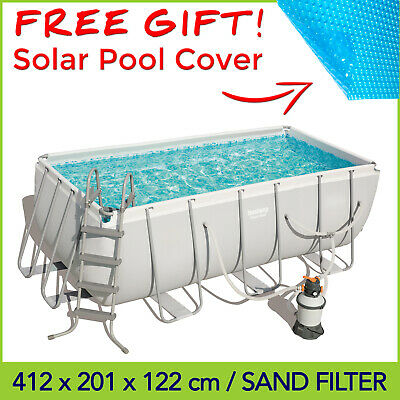 Bestway Above Ground Pool 412 x 201 x 122 cm with Cartridge Filter - 56458