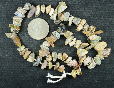 Ancient Roman Glass Beads 1 Medium Strand Rainbow 100 -200 Bc 648