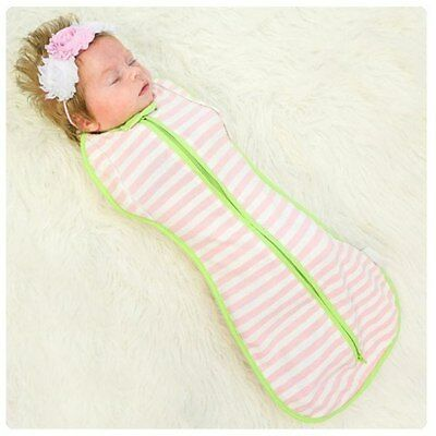 Woombie Convertible Baby Cocoon Swaddle -Newborn 0-3 Months-Pink Stripe