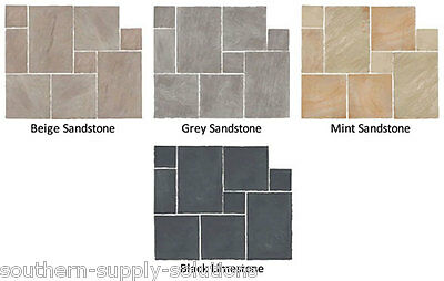 Riven Indian Paving Project Pack Paving Slabs Random Patterns 15.25m2 £20.98 pm2