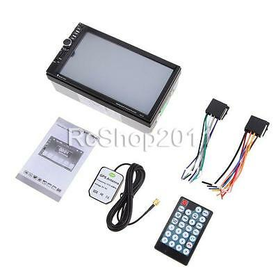 """7"""" HD Touchscreen 2 DIN Car GPS Stereo MP5 Player Bluetooth Radio FM/USB/AUX+Map"""