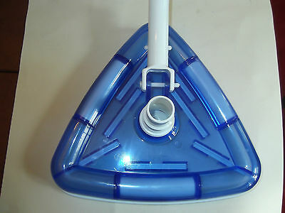 Uk Stock Swimming Pool Cleaning Head Triangle Clear Weighted