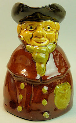 A Fine Antique Devon Pottery Character Water Jug C.1900