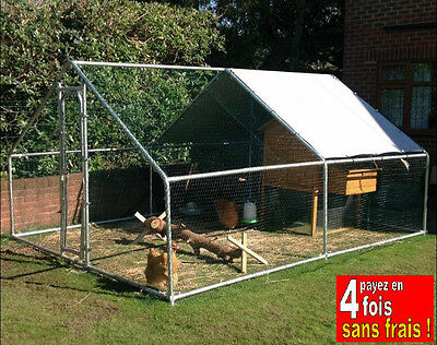 Enclos Pour Poules-Parc Poules- Enclos Volaille Run Animals-12 M2 Sol As1002