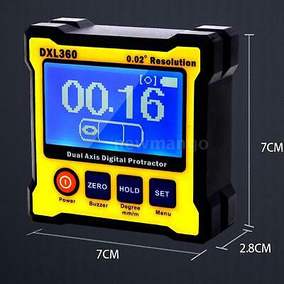 DXL360 Single Dual Axis LCD Digital Angle Protractor AC Adapter 50Hz-60Hz Q7R6