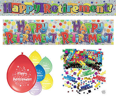 Retirement Party Decorations Banners Balloons Confetti