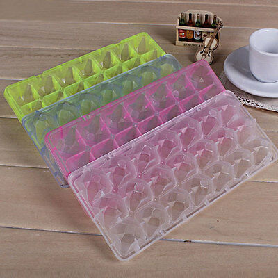 21 Cell Ice Cube Square Tray Freeze Mold Bar Pop Frozen Maker DIY Multi Color