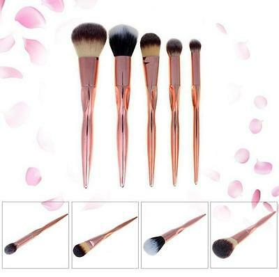 Makeup Powder Foundation Rose Gold Pro Eyeshadow Cosmetic Brushes Brush Contour