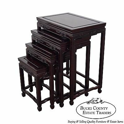 Chinese Rosewood Nest of 4 Tables (A)