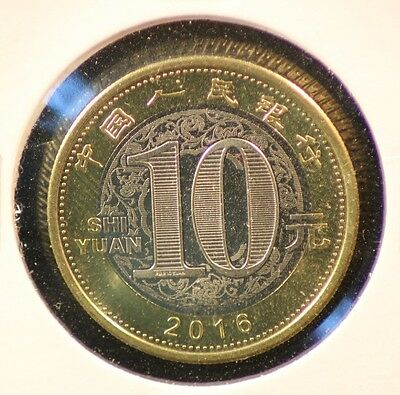 10 YUAN 2016 CHINE / CHINA (UNC) année du singe / year of the monkey