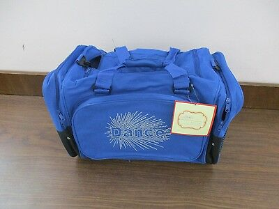 """Girl's Blue Dance Duffel Bag 22"""" by Sassi Designs ~ New ~ # 839"""