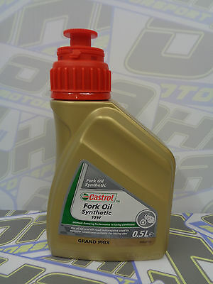 Castrol Fully Synthetic Motorcycle Bike Suspension Fork Oil 10W 500ml BRAND NEW