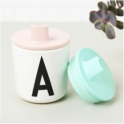 Design Letters Kids Collection Drink Lid Pink Sippy Melamine Cup Babies Toddlers