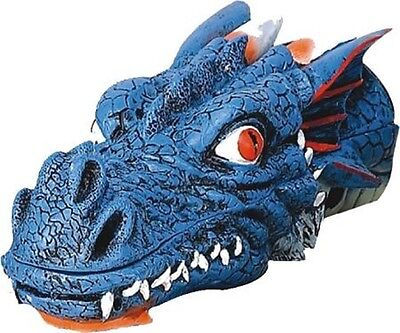 "Dragon Head Stick Incense Holder Burner 11"" L (Blue)"