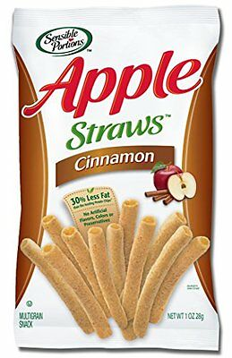 Sensible Portions Apple Straws, Cinnamon, 1 Ounce Pack of 24