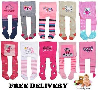 Baby BOYS GIRLS Cotton Mix Tights Leg Warmers 0 - 36 Months & 3 - 4 Years Pants