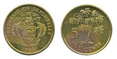 Seychelles 1995 5 Cents 10 Uncirculated Coin Lot (KM47.2)