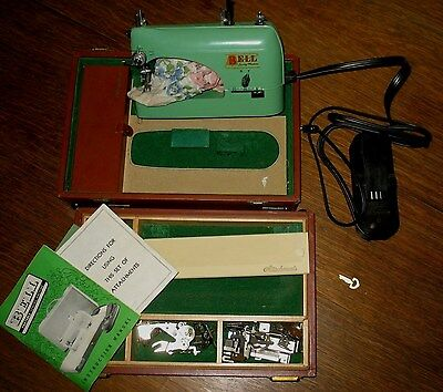 Antique Bell Portable Sewing Maching Made in USA Pennsylvania Green