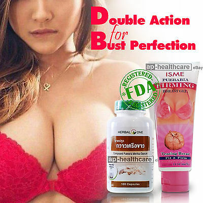 PUERARIA MIRIFICA Capsule PLUS BUST BOOST GEL NATURAL BOOBS BREAST ENLARGEMENT