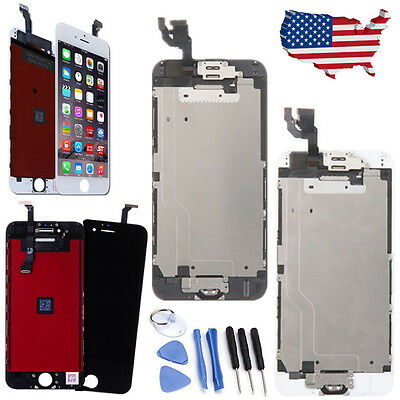 """LCD Touch Display Screen Replacement Digitizer for iPhone 6 4.7"""" Black & White"""