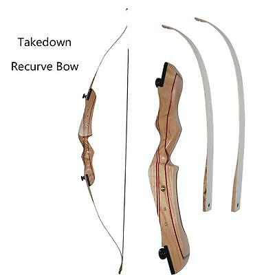 40# Archery Takedown Recurve Bow Original Wood Riser Right Hand Hunting Longbow