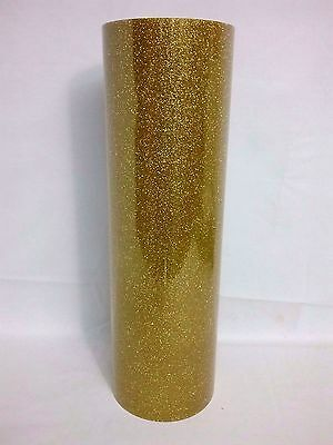 T-Shirt Heat Transfer Vinyl Glitter Gold  Garment Textile Graphics 1mtr