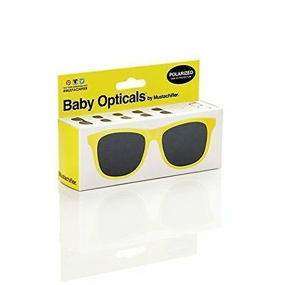 Mustachifier Polarized Baby Sunglasses - Yellow 0-3years B4a
