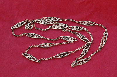 SUPERBE COLLIER FILIGRANE  OR MASSIF 18 CARATS - K - 62 cm