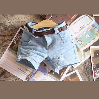 New Blue Hole Fashion Jeans Shorts For BJD 1/4 MSD Size Luts Doll Clothes