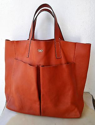 cbfc314dcc7b Anya Hindmarch Nevis Tan-Orange Cowhide Leather Large Tote Bag Sold Out!  RARE!