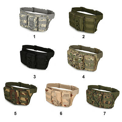 Durable Tactical Waist Pack Bag Waterproof Outdoor Camping Hiking Pouch Belt Bag