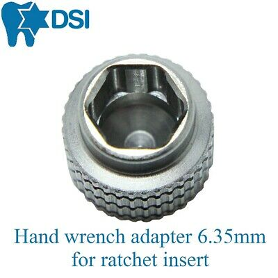 Dental Implant Surgical Hand Wrench Adapter for 6.35mm Ratchet Insert Instrument