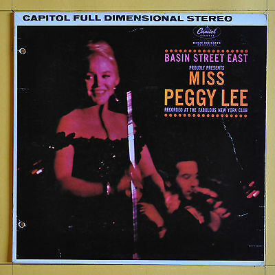 Original Press  Peggy Lee Basin Street East Proudly Presents  Peggy Lee    1961
