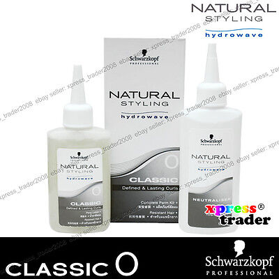 Schwarzkopf Hydrowave Natural Style Curls Classic 0 Perm Kit - Resistant Hair