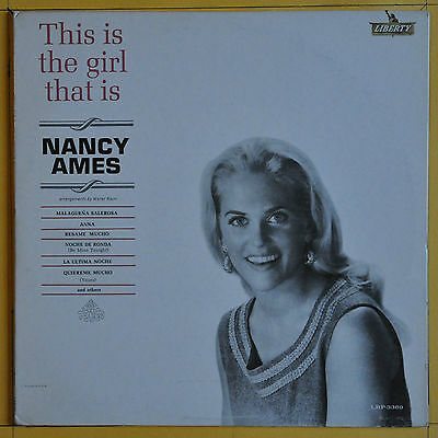 Nancy Ames This Is The Girl That Is Nancy Ames Liberty LRP 3369 USA  1964