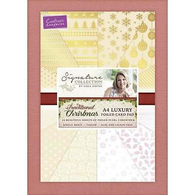 Traditional Christmas A4 Luxury Foiled Card Crafter's Companion Sara Signature