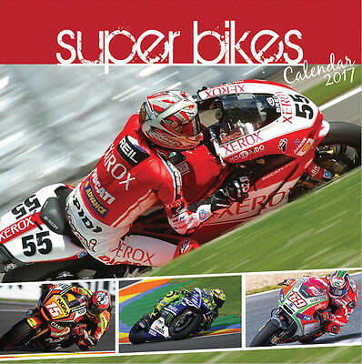 "2017 Superbikes Calendar,with ""free""  Uk  Tracked Delivery"
