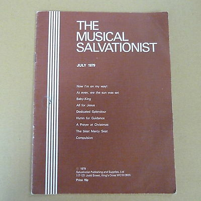 vocal score THE MUSICAL SALVATIONIST July 1979