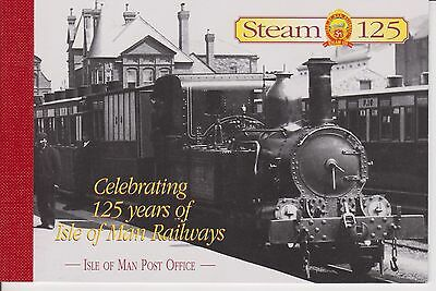Mint Mnh Isle Of Man 125 Years Of Iom Railways Booklet 1998 Sb49 10% Off 5+